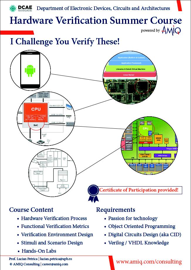 Hardware Verification Summer Course at Politehnica